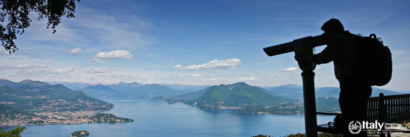 View over Lake Maggiore, towards Stresa