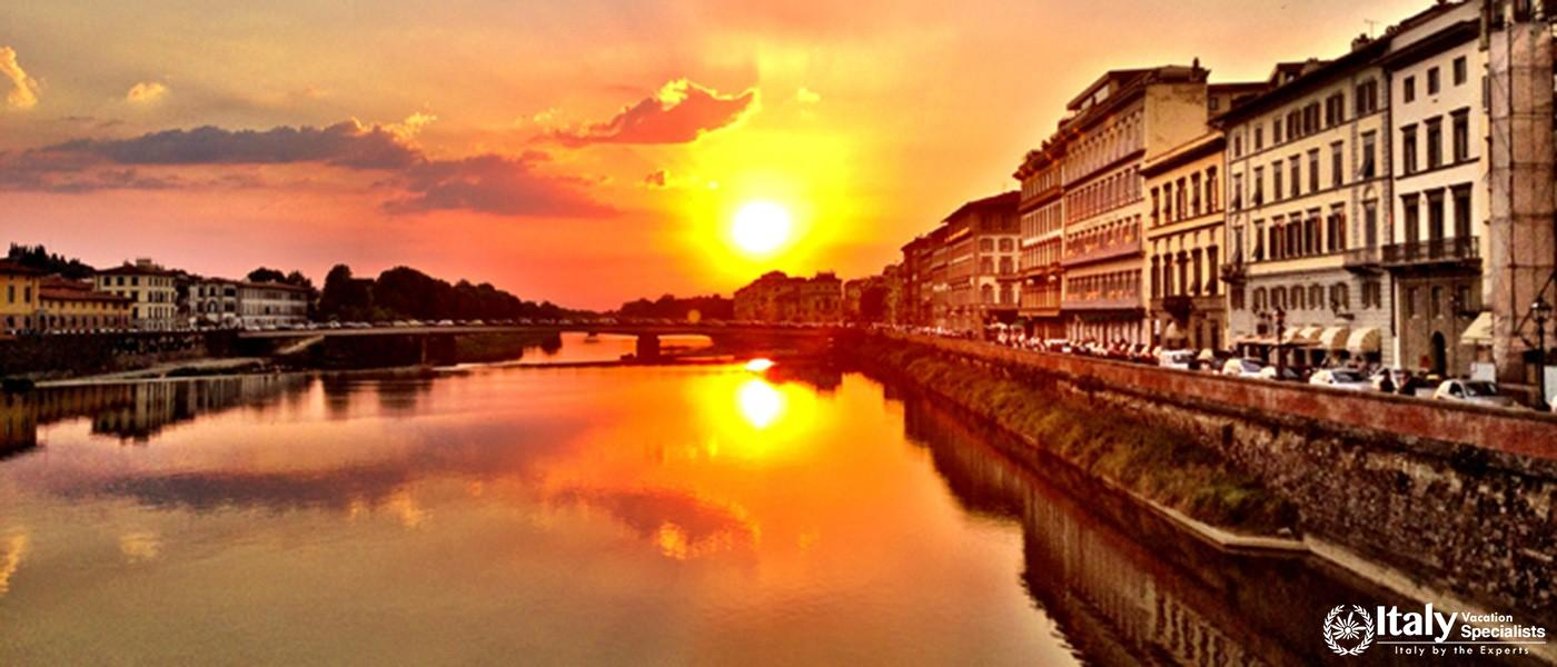 Amazing Sunset in Florence ITaly