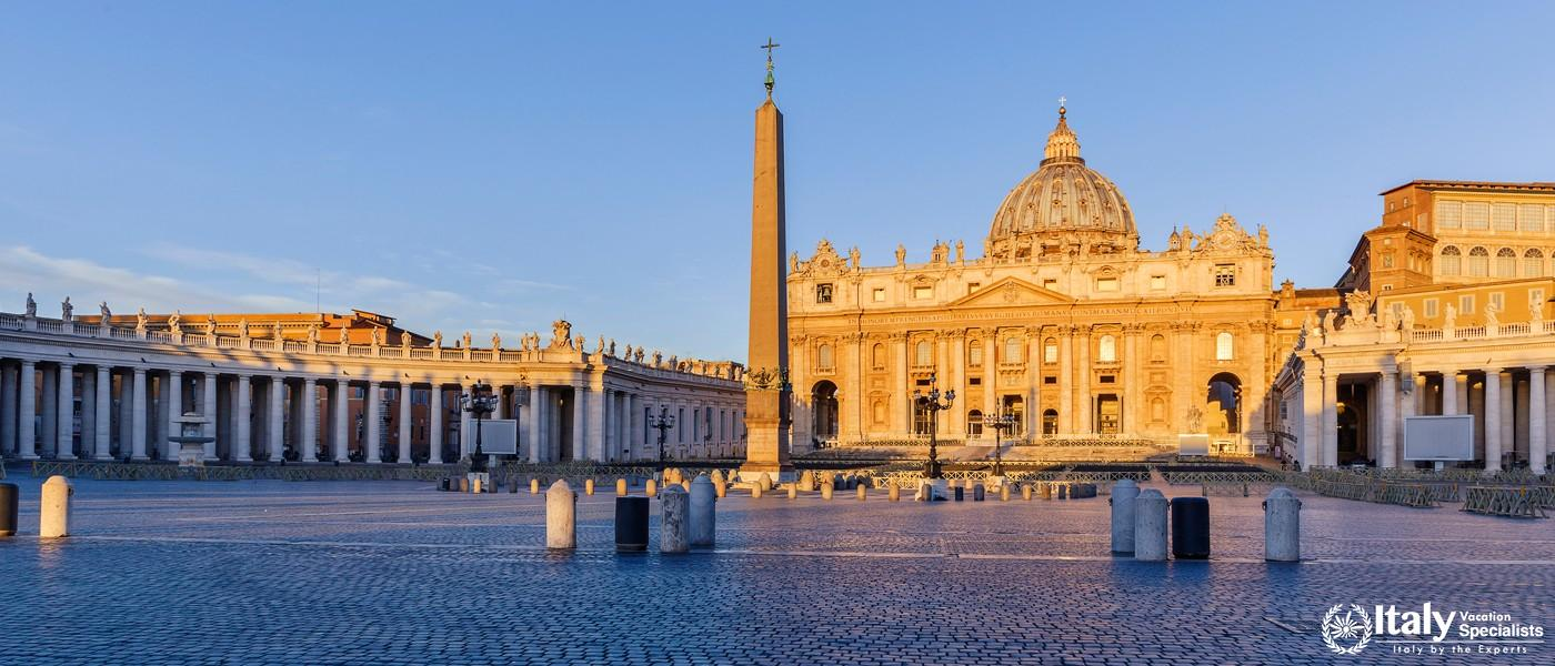 Sunrise in St. Peter's Square in the Vatican
