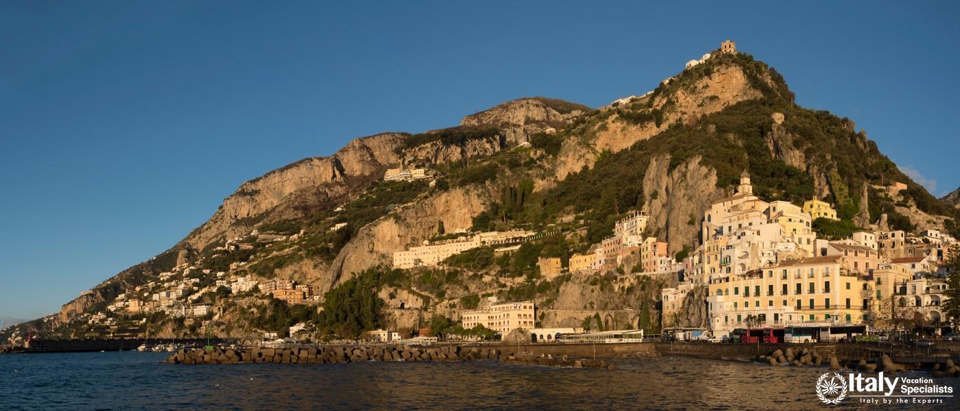 Panoramic view of Amalfi Coast, Italy