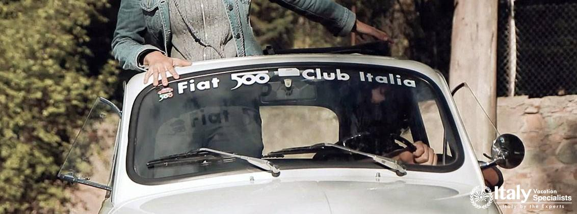 CLASSIC FIAT 500 CAR TOUR in TUSCANY