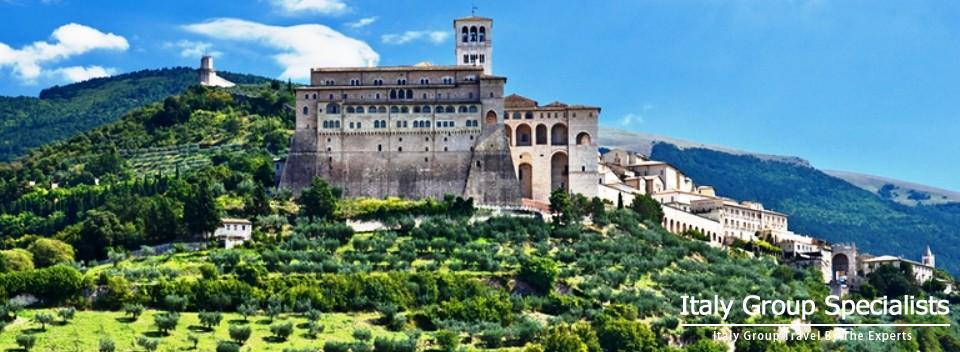 The beautiful hill-top town of Assisi, Umbria, Italy
