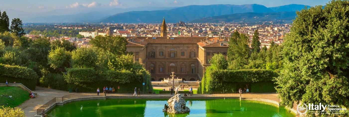 View over Florence from Inside the Boboli Gardens