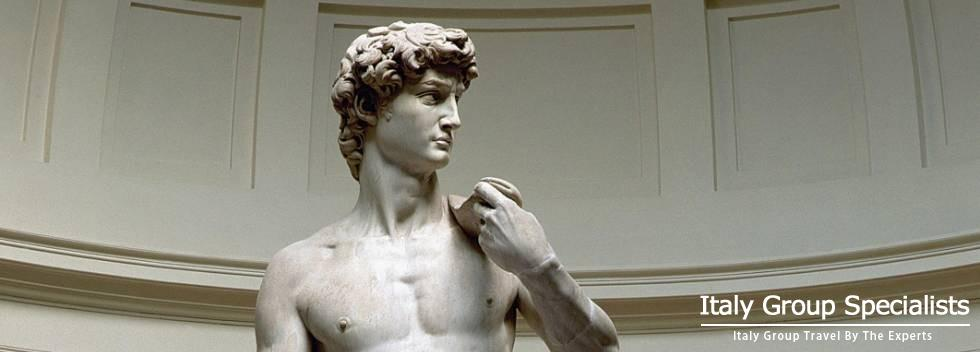 Michelangelo's David at the Accademmia Gallery in Florence, Italy