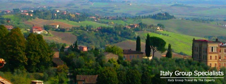 Tuscan Countryside as seen from City of Siena - Photo by Jesse Andrews 2005