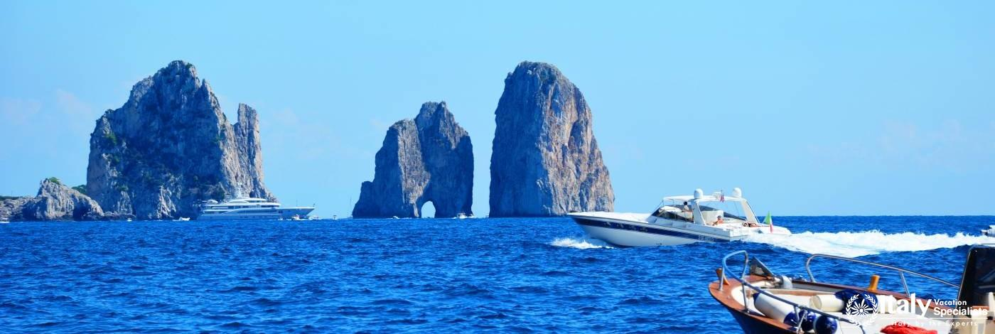 Island of Capri Boat Tour from Positano