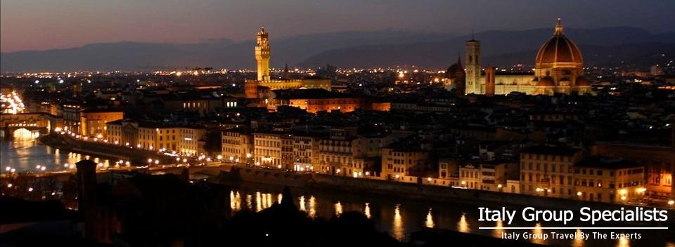 Beautiful Florence Italy, by Night