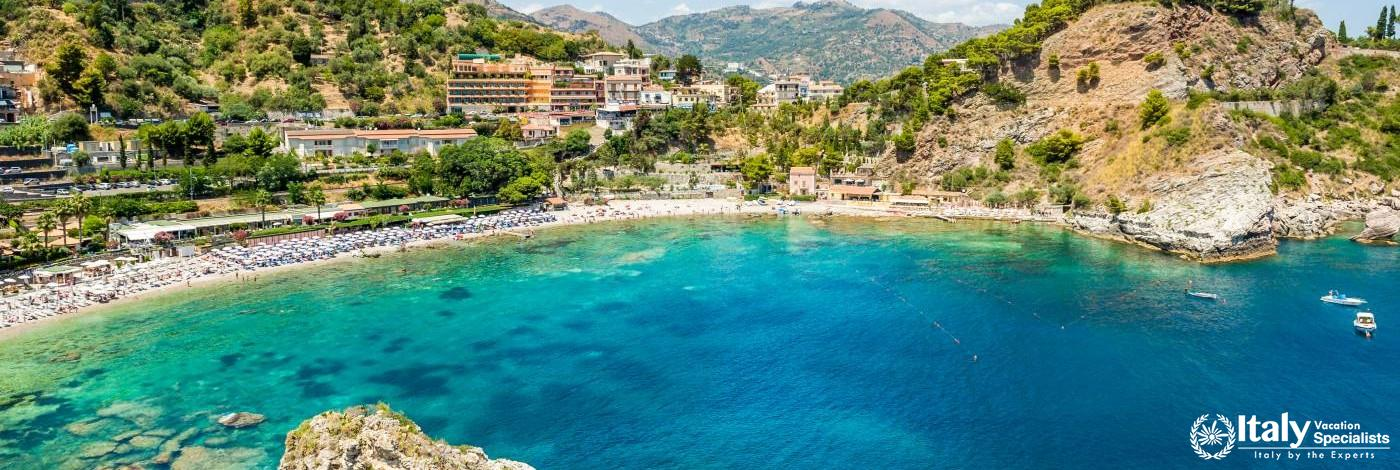 Bay as Seen at Taormina, Sicily