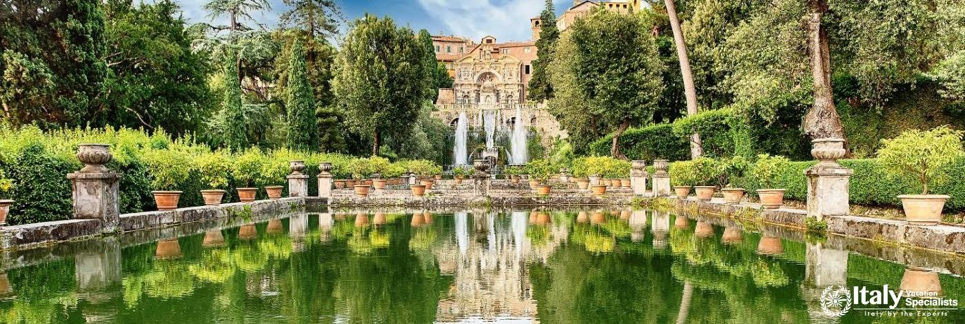 Beautiful Villa D'Este at Tivoli Gardens, Rome