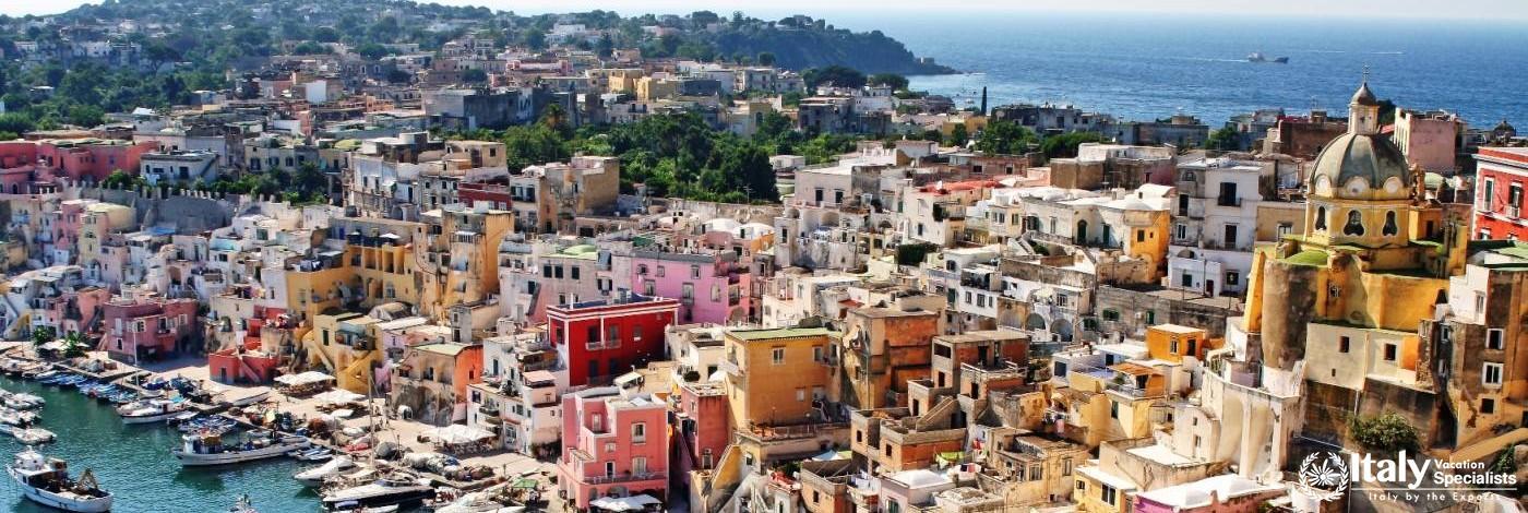 Spectacular Procida Island, Bay of Naples Italy