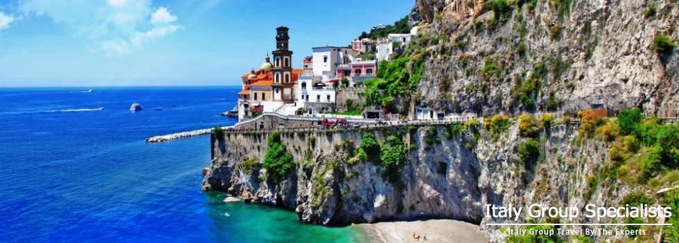 Beautiful town of Atrani on the Amalfi Coast