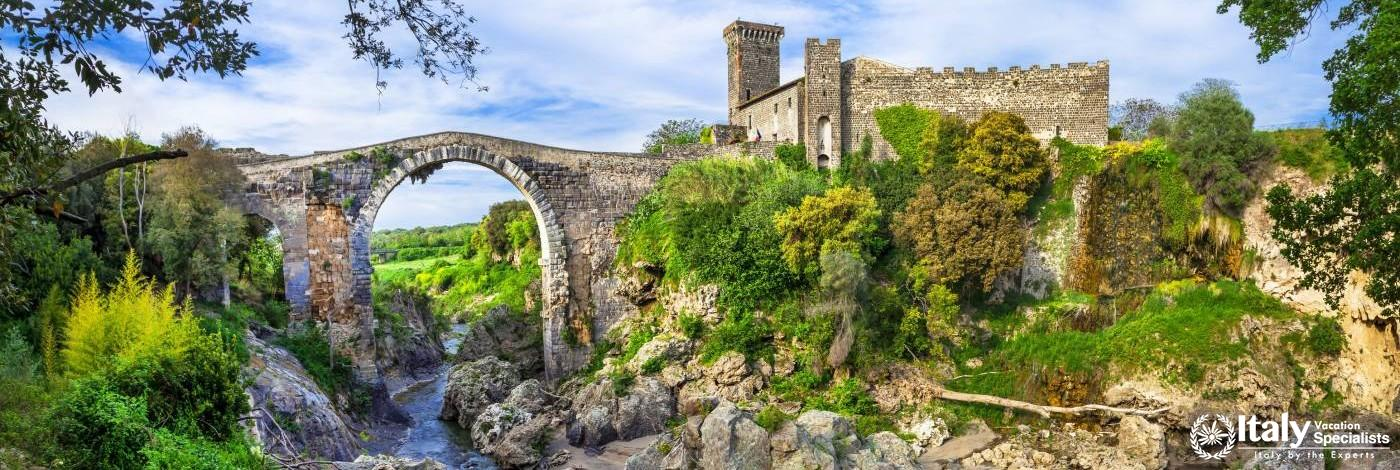 The Ancient Etruscan city and ruins in Vulci -Italy, Viterbo province